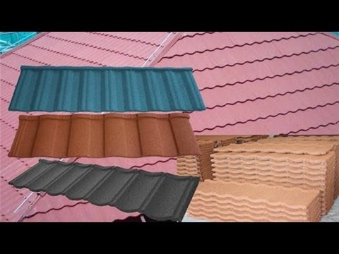 Animation about how to install colorful stone coated metal roof tiles stone-chip roofing tiles video