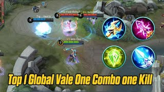 KING Vale One Hit Combo - Carry with Vale Top 1 Global Build and Gameplay