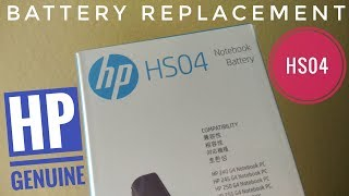 HP Notebook Battery HS04 Unboxing
