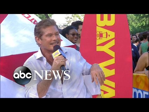David Hasselhoff hit the gym for 6 weeks to work with 'The Rock' in 'Baywatch'