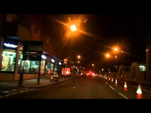 Driving in London by night - Brixton to Highgate Village