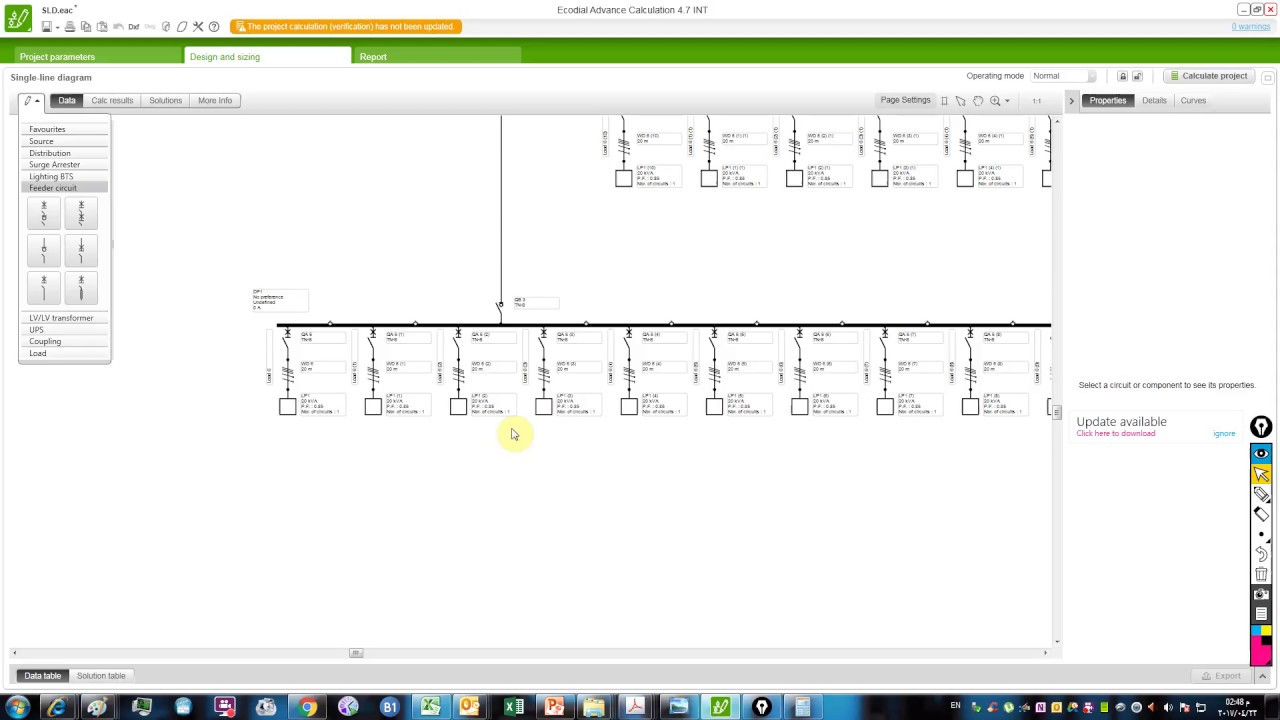 single line diagram calculation iec standard part 2 ecodial [ 1280 x 720 Pixel ]