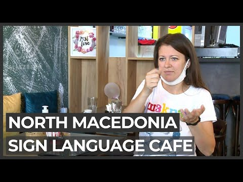 North Macedonia's first sign language cafe opens