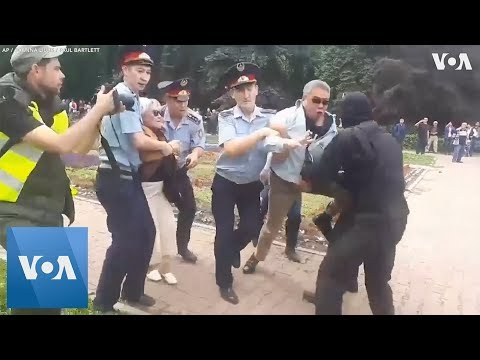 Anti-Government Protesters Carried Away in Kazakhstan