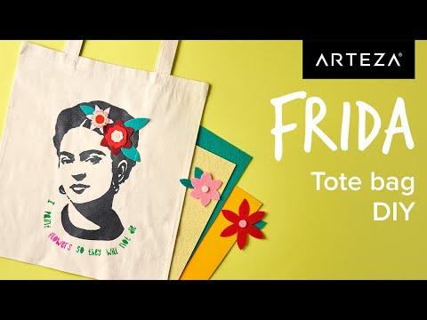 DIY Tutorial - How to Make a Frida Kahlo Tote Bag Design | #Arteza