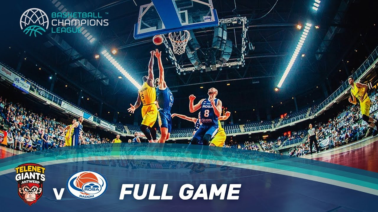 Telenet Giants Antwerp (BEL) v Rosa Radom (POL) - Full Game - Basketball Champions League 17