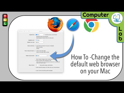 Change the Mac default web Browser from Safari to a browser of your choice.