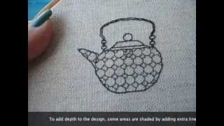 Blackwork embroidery. A step by step guide