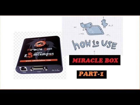 how to use miracle box software part -1