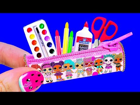 5 MINUTE CRAFTS and BARBIE HACKS - DIY School Supplies, LOL OMG Crafts, Dollhouse and more