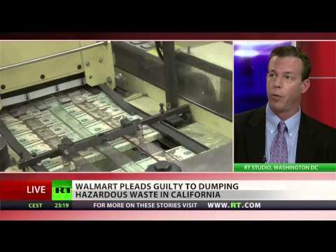 Walmart found guilty of dumping hazardous waste nationwide