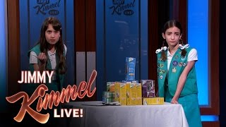 Girl Scouts Try to Sell Cookies to Jimmy Kimmel