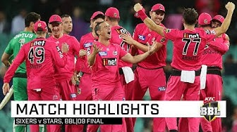 CHAMPIONS! Sixers down Stars to win second BBL title | KFC BBL|09