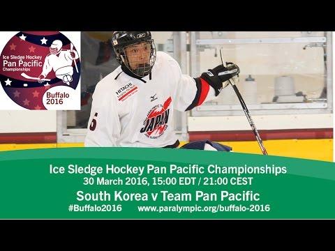South Korea v Team Pan Pacific | Prelim | 2016 Ice Sledge Hockey Pan Pacific Championships, Buffalo