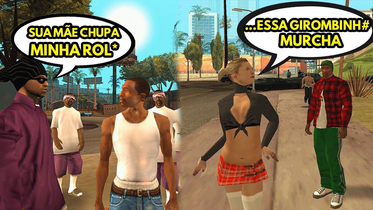 PEDESTRES do GTA SA falando em PORTUGUÊS - NOVO GTA SA DUBLADO!