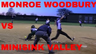 Monroe Woodbury Varsity Softball vs Minisink Valley 5 9 2016