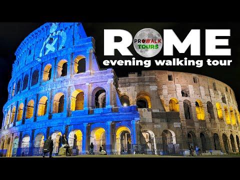 Rome Night Walking Tour 4K - October 10th, 2020