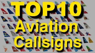 Top 10 commercial aviation Callsigns