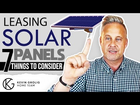 7 Things to know about leasing solar systems