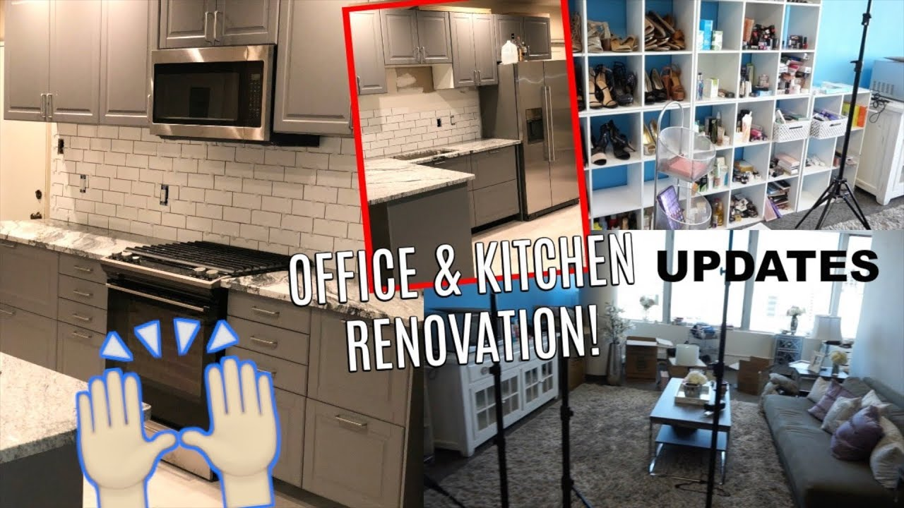 IKEA KITCHEN RENO UPDATE | OFFICE SPACE LAYOUT #2   Looks So Different!