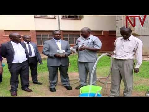 Minister Elioda Tumwesigye tours scientific innovation projects at Makerere University