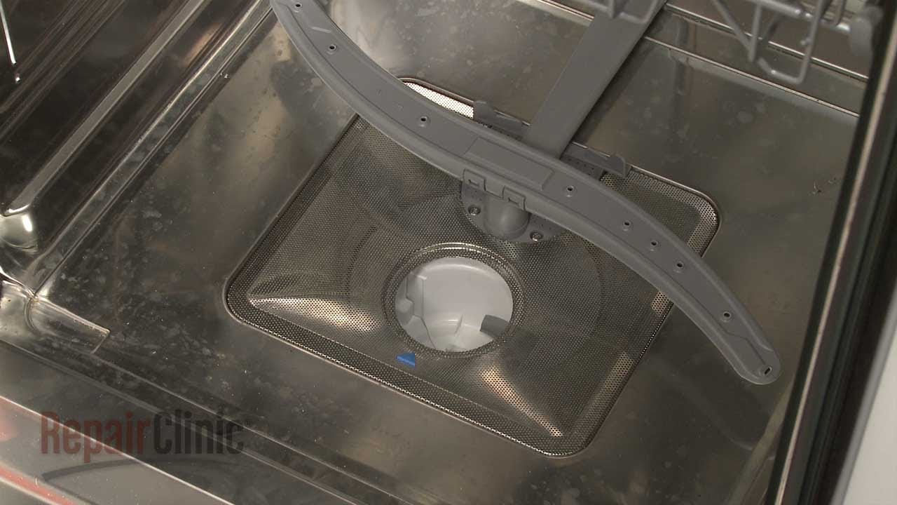 Bosch Dishwasher Fine Filter Replacement 00441905 Youtube