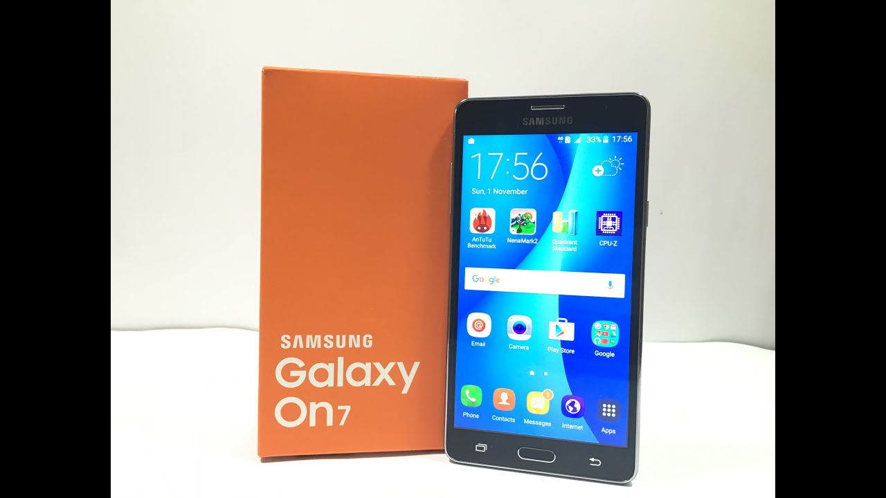 Samsung Galaxy On7 Unboxing & Hands on Review - YouTube