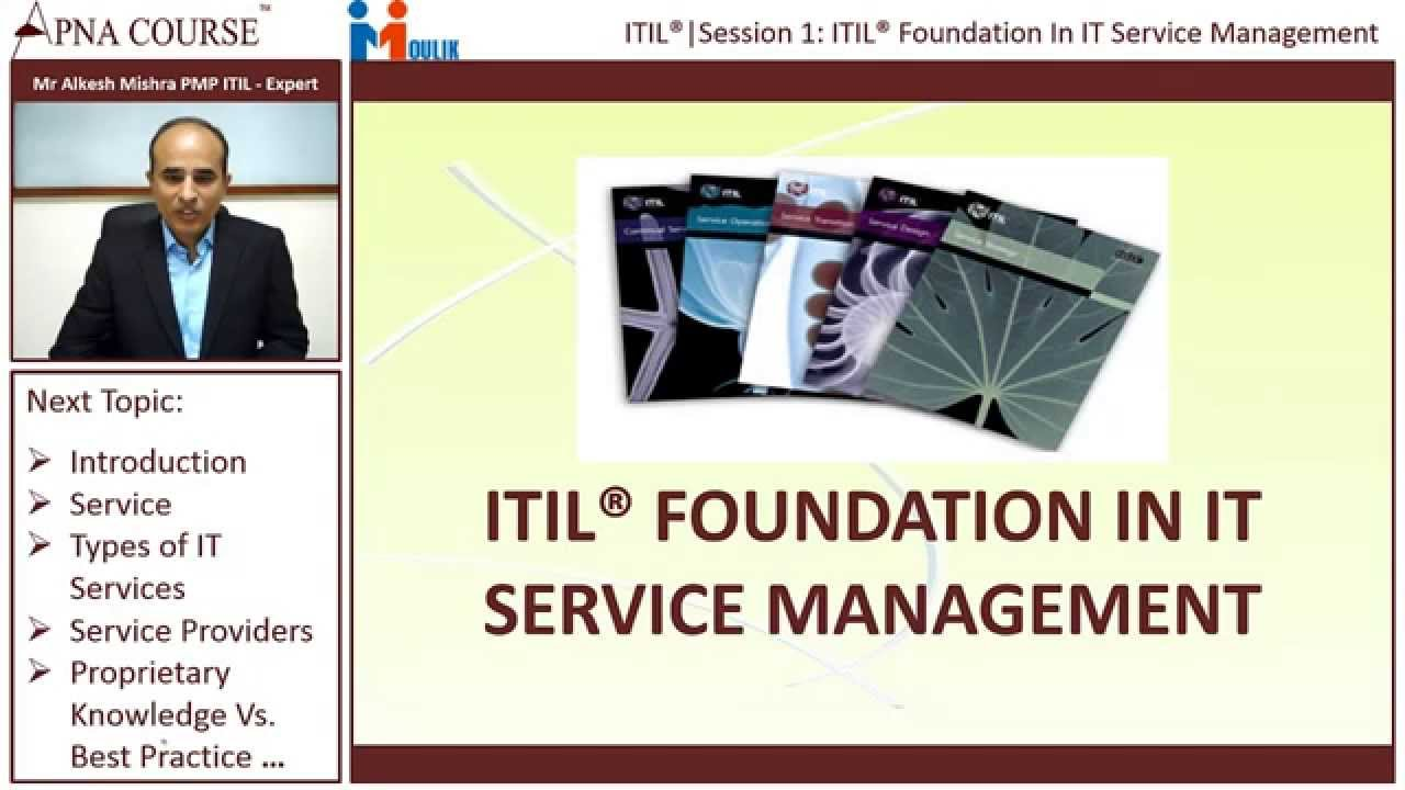 Itil Foundation Certification Training Apnacourse Youtube