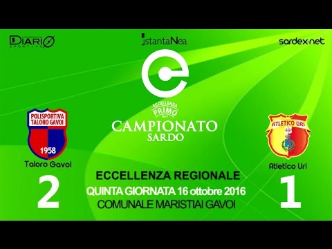 Taloro - Atletico Uri 2-1 - Highlights - Giornata 5 - ECCELLENZA SARDEGNA 2016-17