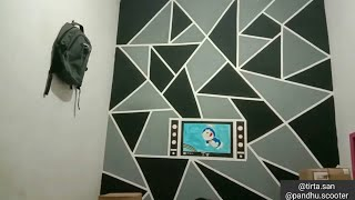 Cara Cat Tembok Kreatif Motif Geometrik 3d Youtube