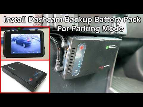 Install Dashcam Battery Pack For Parking Mode - CHANUN BATTERY