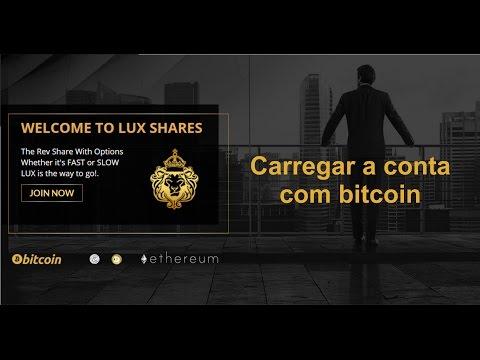 Luxury Shares Carregamento da Conta por bitcoin