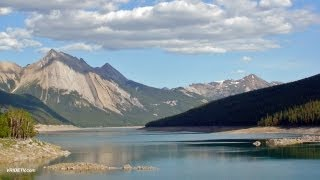 Motorcycle riding/Jasper National Park, Canada/Medicine Lake/VRIDETV.com