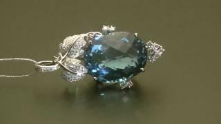 Подвеска с бриллиантом и топазом из белого золота(, 2011-10-06T20:58:50.000Z)