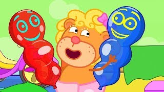 Lion Family Cartoon for Kids Balloons