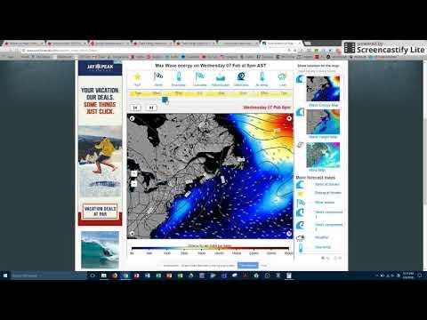 Nova Scotia Wave Energy Profile Forecast (02/06/2018 - 02/13/2018)