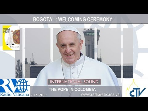 2017.09.06 Pope Francis in Colombia – Welcoming Ceremony - Bogotà