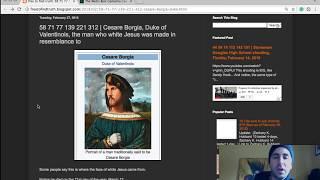 Cesare Borgia, the face of white Jesus +Death of Tupac Shakur Makaveli