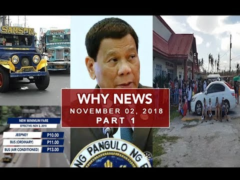 UNTV: Why News (November 02, 2018) PART 1
