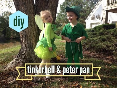 diy toddler tinkerbell peter pan costumes for halloween