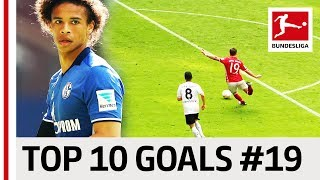 Top 10 Goals Players with Jersey Number 19 Sane Werner Götze Co