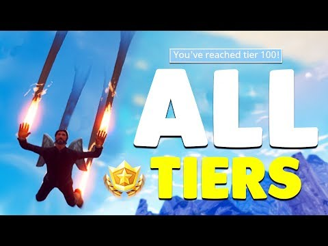 *BUYING* 100 BATTLE PASS TIERS In Fortnite Battle Royale! (ALL NEW ITEMS)