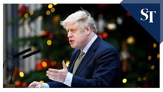 Boris Johnson speaks from Downing Street after landslide election win