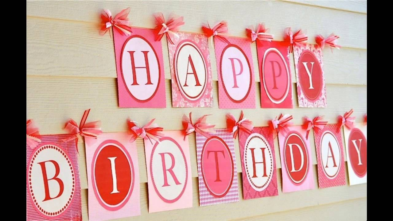 sc 1 st  YouTube & Home Birthday party decorating ideas - YouTube