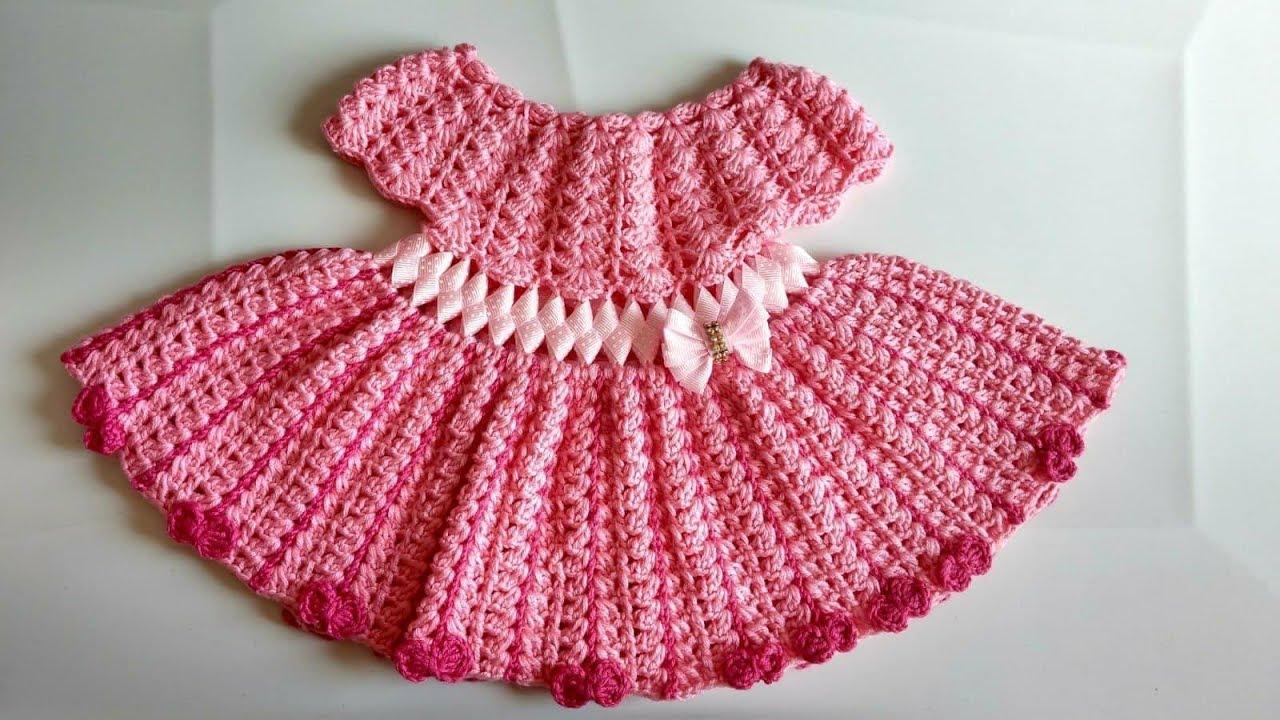 Vestido a crochet para bebe parte 1 youtube - Traje de duende para nino ...