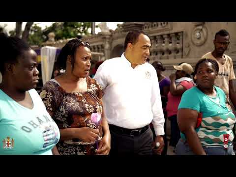 Minister Christopher Tufton in the Streets Having a Reasoning About Ganja!