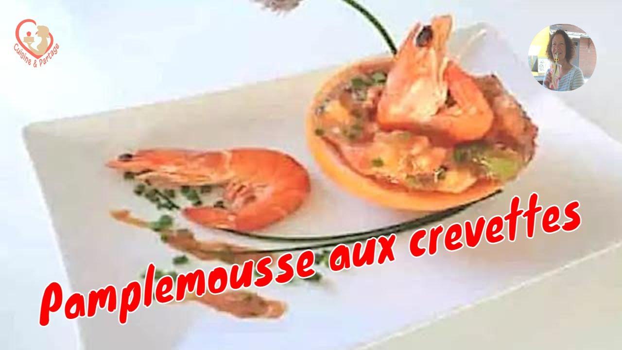 Crevette sauce cocktail pamplemousse