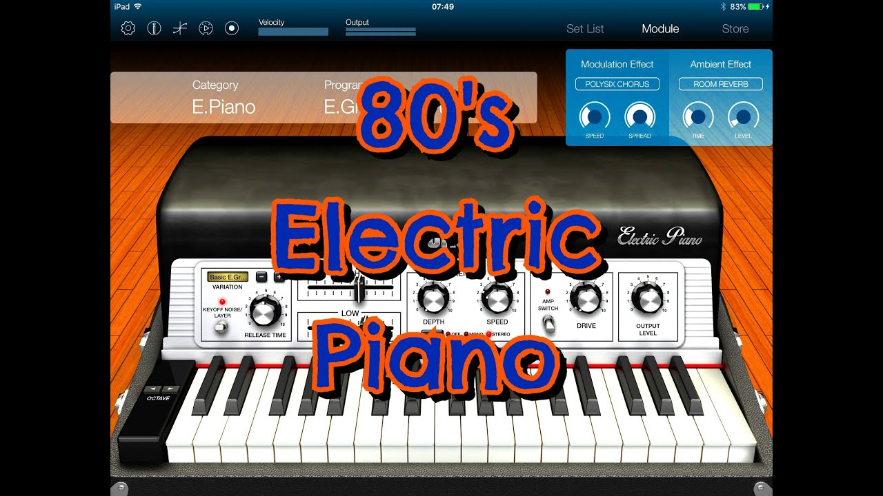 Korg MODULE, 80's Electric Piano Pack, Full Demo for the iPad