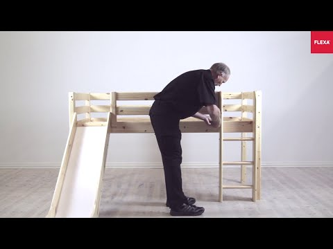 FLEXA Classic Mid high Bed Straight Ladder and Slide Assembly Instruction