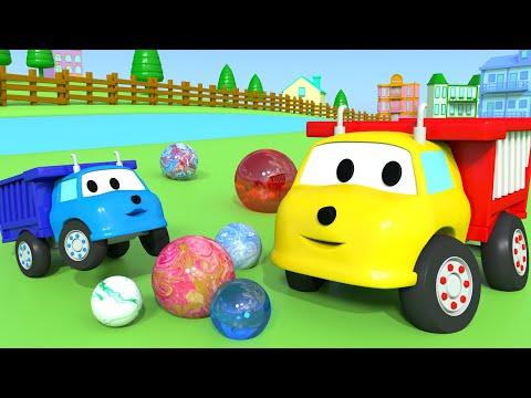 Aprende colores jugando con bolas de colores con Ethan el Camión Volquete | Dibujos Animados niños